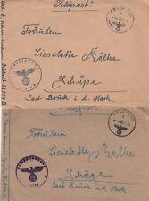 2 Feldpostbriefe 1942 Kreta - Schäpe Brück beide mit Inhalt 557