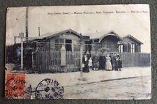 CPA. IVRY Centre. 94 - Maison TRIPONET. 1908. Vins. Epicerie. Rue du Liégat.