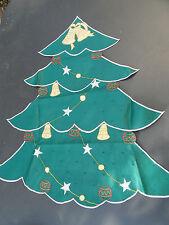 NEU Weihnachtsdeckchen Satin Tischdecke 80cm lang,Stick Fest Weihnachten Baum