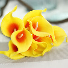 1/10 Artificial Look Real Like Calla Lily Fake Flower Wedding Home Decor Bouquet