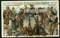 People Races Nationalities Cultures Of Europe c1900 Trade Ad Card