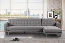 Velago Attalens - Modern Fabric L Shape Convertible Sectional Sleeper Sofa