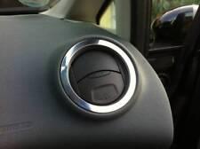 D Ford Fiesta JA8 2008- Chrom Ringe für Lüftung außen - Aluminium poliert
