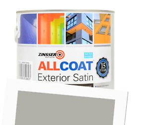 Zinsser Allcoat Exterior 15 Year Protection WB Tintable Grey RAL 7038 Satin 1L
