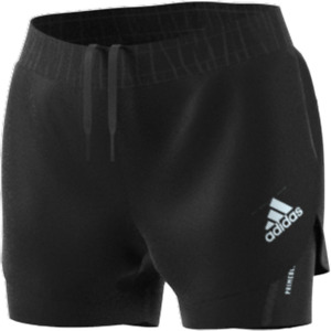 Adidas PRIMEBLUE TWO-IN-ONE SHORTS. Womens. Black