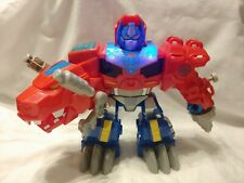 2015 Transformers Rescue Bots Optimus Prime T-Rex Talking HTF Optimus Primal