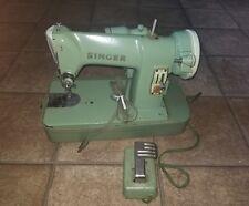 Vintage Singer Sewing Machine RFJ8-8 Nice Green No case