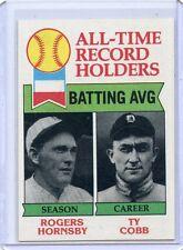 1979 TOPPS BASEBALL #414 ROGER HORNSBY, TY COBB, CARDS, TIGERS,SET BREAK, 070717