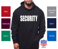 Security Hoodie Bouncer Police Event Staff Uniform Guard Sweatshirt Military