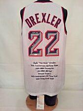 ca9a0cd5f Clyde Drexler Signed Autographed Blazers Houston Rockets Stat Jersey JSA  W177588