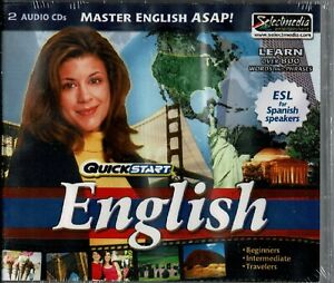 Quickstart English 2 Audio Cds ESL For Spanish Speakers New 800 Words Phrases
