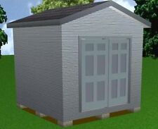 10x10 Storage Shed Plans Package, Blueprints, Material List & Instructions