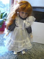 "PROMENADE IMOGEN-A 1793B  GENUINE PORCELAIN 16""  PRELOVED DOLL  WITH  STAND"