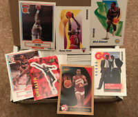 NBA Basketball Trading Cards Lot Box, From Early 1990's, Approx. 300+ Cards