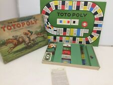 Vintage Totopoly Great Race Game Waddingtons 1949 Board Game - It Seems Complete