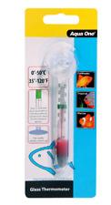 3x 10306 Aqua One Glass Thermometer Aquarium Fish Tank Temperature Suction Cup