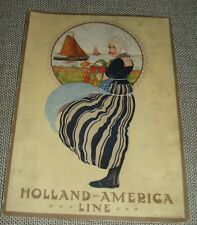 Original 1923 Dinner Menu from The R.M.S. Veendam  Holland America Line