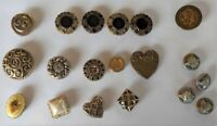 Small Lot Vintage Button Covers and Buttons, 14 Covers, 5 Buttons, Some Sets