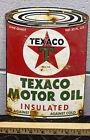 Texaco+Motor+Oil+Porcelain+Die+Cut+Sign+Engine+Car+Truck+Mechanic+Gas+Oil