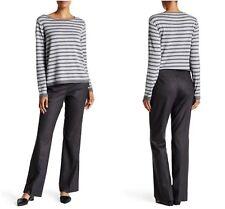 NWT EILEEN FISHER   SZ 6  Charcoal Stretch Wool Straight Leg Trousers Pants