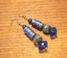 Beaded Earrings, Dangle, Handcrafted, Boho, Tibetan, Tribal, Ethnic, item #22