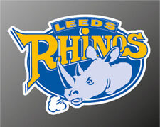 2 x  LEEDS RHINOS STICKERS . RUGBY LEAGUE TEAM 110mm approx