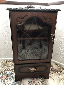 Mahogany Small Display Cabinet Unit Table John Coyle Rope Edge Collection