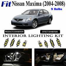 9 Bulbs White Car LED Interior Light Kit Xenon Lamps For Nissan Maxima 2004-2008