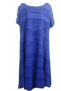 Signature By Sangria Short Sleeve Blue Dress Womens 22W Plus Size New
