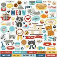 """I Love My Cat Cardstock Stickers 12""""X12"""" Elements 644216282562"""