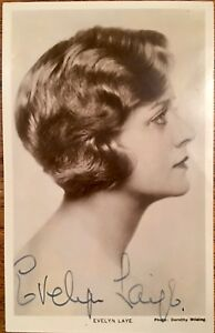 EVELYN LAYE ACTRESS SINGER / THE STAR OF MANY MUSICALS DURING THE 1920'S / 30'S