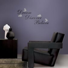 WORDS EXPRESSION DREAM BELIEVE DISCOVER QUOTE WALL DECALS Words Wall Art Décor