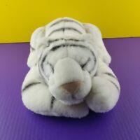 """TL Toys Plush White Sleeping Tiger 21"""" Stuffed Animal 1993 Vintage Laying"""