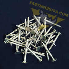 """1 1/2"""" Annular Ring Shank Solid 304 Stainless Steel Roofing Nails 10ga. (50 pcs)"""