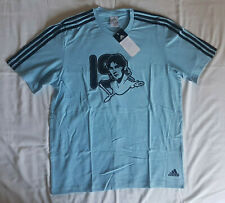 Lionel Messi Argentina #19 cotton football shirt soccer jersey, Adidas, size M