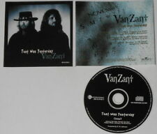 Van Zant  That Was Yesterday  U.S. promo cd