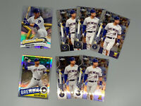 Keston Hiura 2020 Topps Chrome 7 Card Lot Milwaukee Brewers
