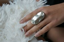 "NEW Engraved Uno De 50 ""SNOWY"" Stamped Silver Statement Ring 7 M"