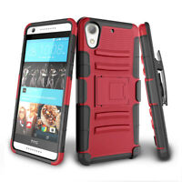 For HTC Desire 626 626s ,Shockproof Hybrid Heavy Duty Clip Kickstand Case Cover