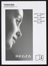 TOSHIBA rv73 xv73 mv73 DIGITAL SERIES ORIGINAL REGZA TV INSTRUCCIONES DE EMPLEO