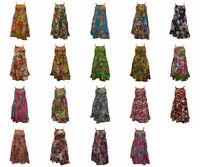 100% COTTON BOHO HIPPIE VINTAGE STYLE LAGENLOOK ELASTICATED FLORAL SHORT DRESS