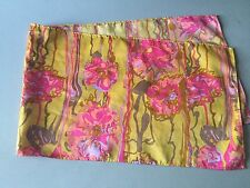 Women's Groovy Psychedelic Scarf Gold and Hot Pink Floral Design Older Item
