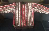 Vintage Sweater XL Red Brown Coogi Like Biggie Smalls Cosby Hip Hop Rap 80s 90s