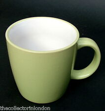 TWO For John Lewis Apple Green Colour 360ml Tea or Coffee Size Mugs 9cmh in VGC