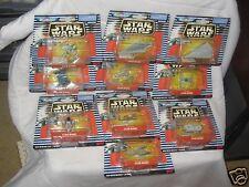 1997 Star Wars Micro Machines Vehicles 65961 Slave 1 LandSpeeder set of 10