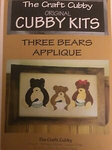 Three Bears Appliqué Pattern By The Craft Cubby - Includes Fabric