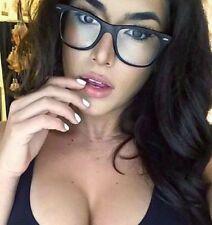Classic Square Nerd Geek Cool Hipster Urban Black Clear Lens Unisex Eyeglasses