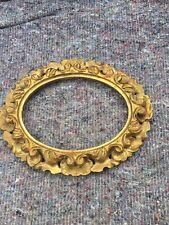 More details for antique gilded florentine carved wood frame
