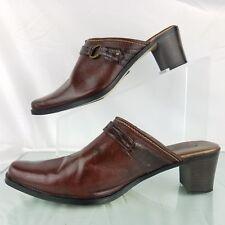 "Sporto Womens Mule Size 8.5 M Brown Strap Slip on 2.5"" Heel Pointy Toe Casual"