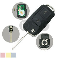 Flip Key Case 434MHz Chip fit for VOLKSWAGEN SEAT SKODA 2 BTN Key 1J0 959 753 AG